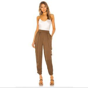 Raquel Allegra Cargo Pants Army Brown Satin S